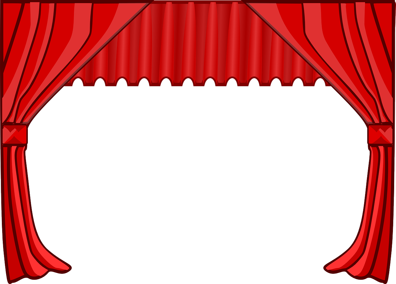 Curtain stage movies png. Curtains clipart puppet theater