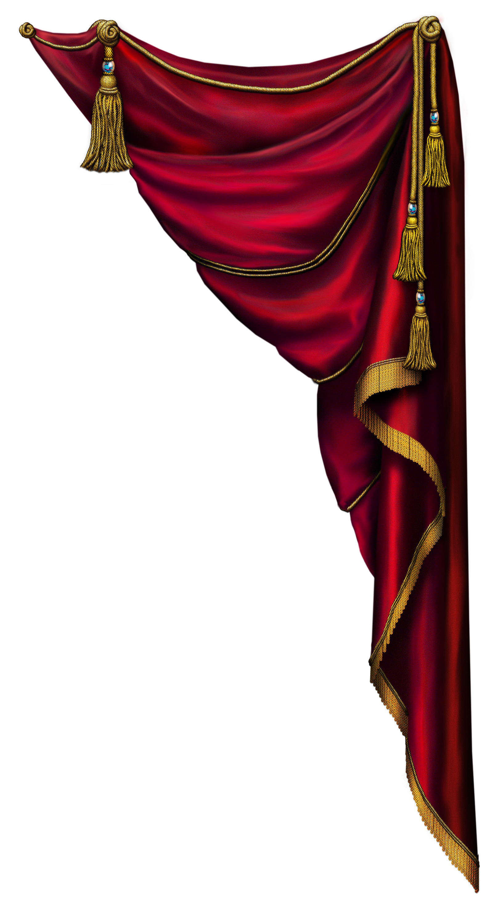 Curtains clipart drapery. Transparent red curtain png