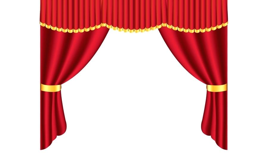 Curtains clipart puppet theater. Collection of free download