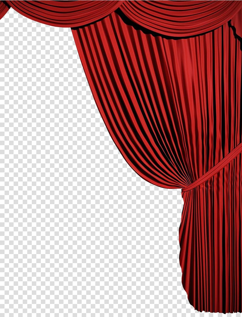 Red theater transparent . Curtains clipart curtain design