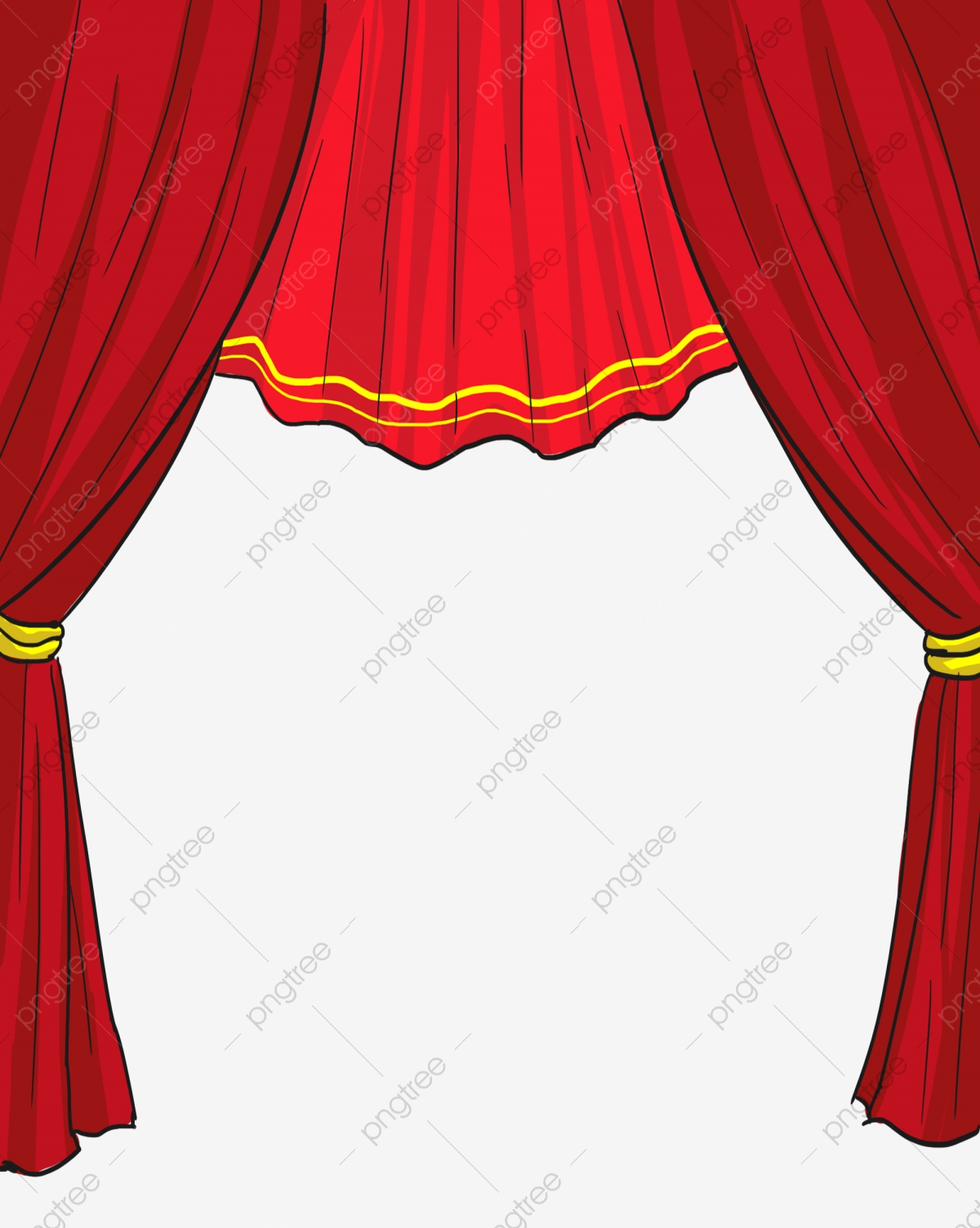 Curtains clipart empty stage. Curtain red decoration png