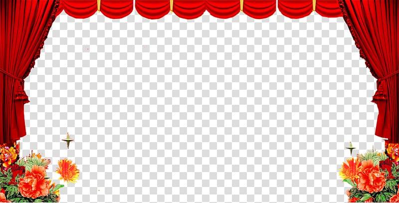 Curtain floral design textile. Curtains clipart flower