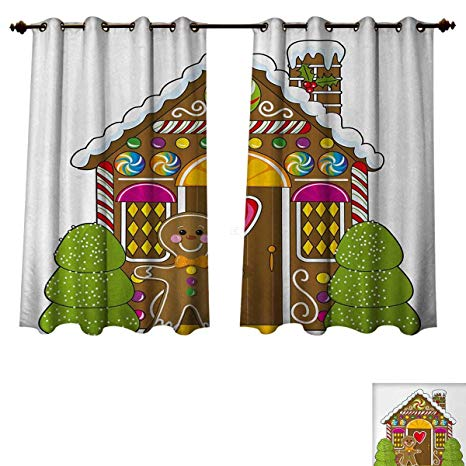 Amazon com anzhouqux man. Curtain clipart gingerbread house window