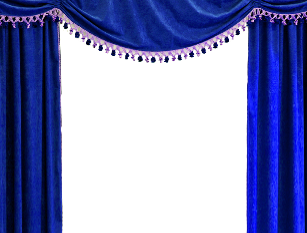 Curtains clipart gold light. Blue curtain png regal