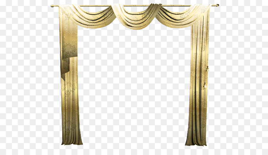 Picture frame curtain window. Curtains clipart gold light