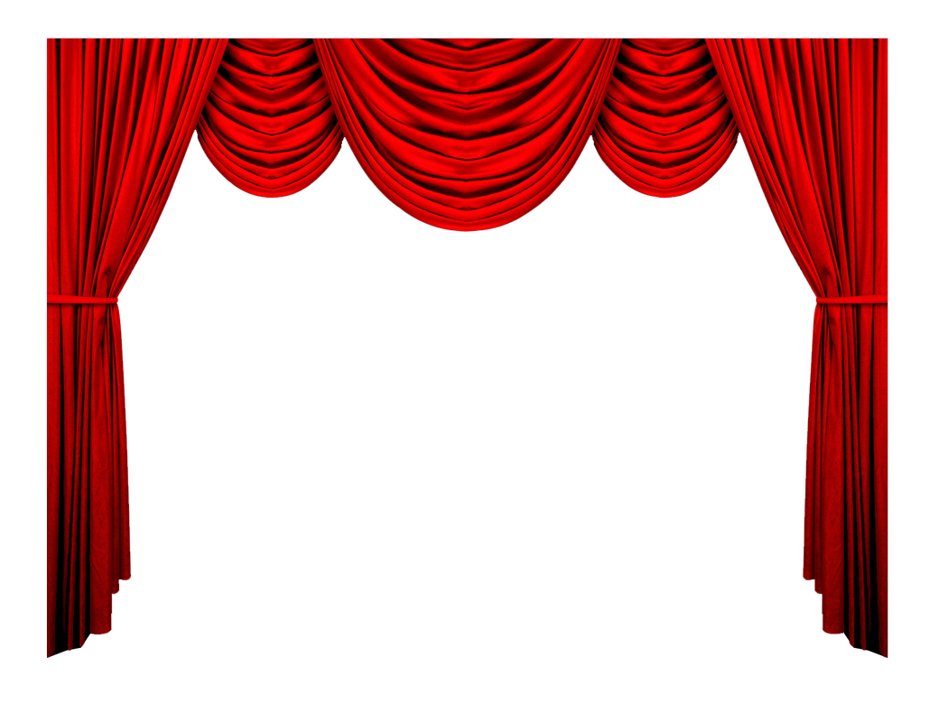 Curtains clipart cloth. Red png