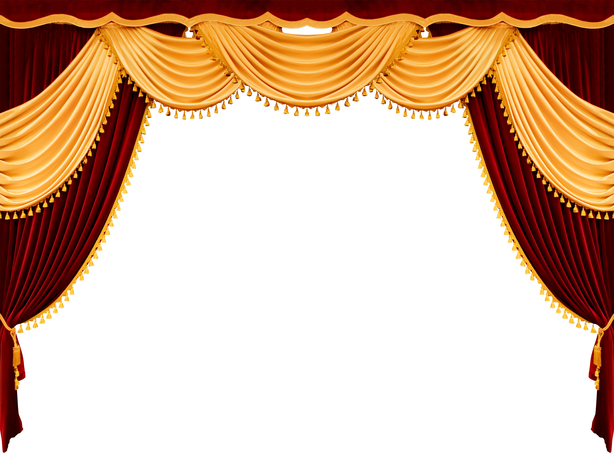 Png . Curtains clipart gold light