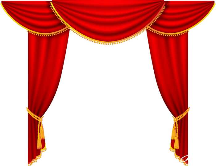 curtains clipart press button