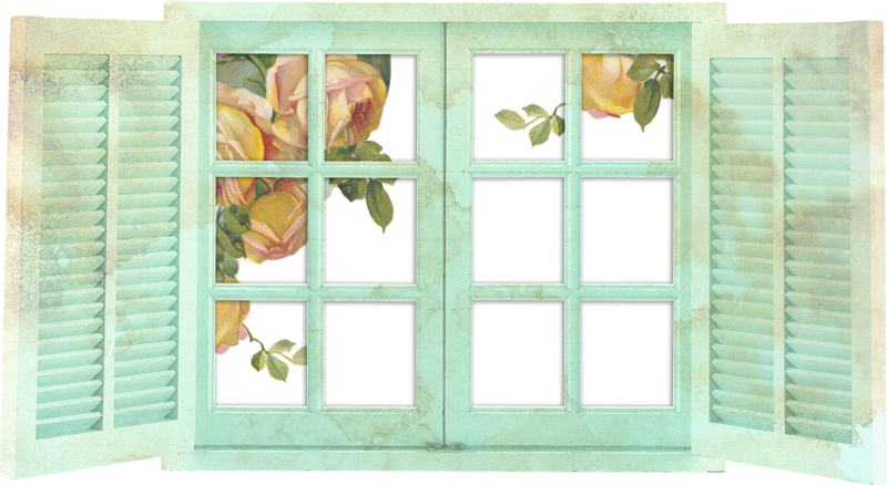 Forgetmenot windows and flowers. Curtains clipart morning window