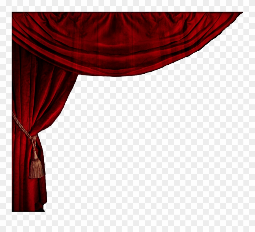 Curtain red curtains png. Theatre clipart opera stage