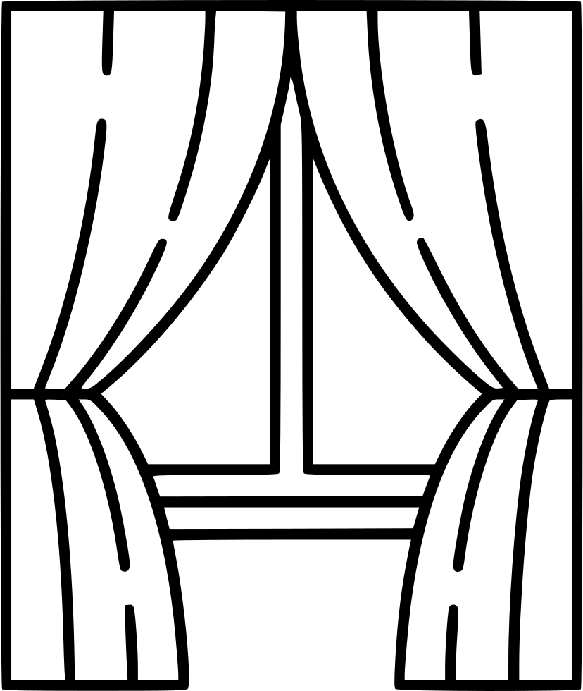 Curtains clipart window sill. With drawing at getdrawings