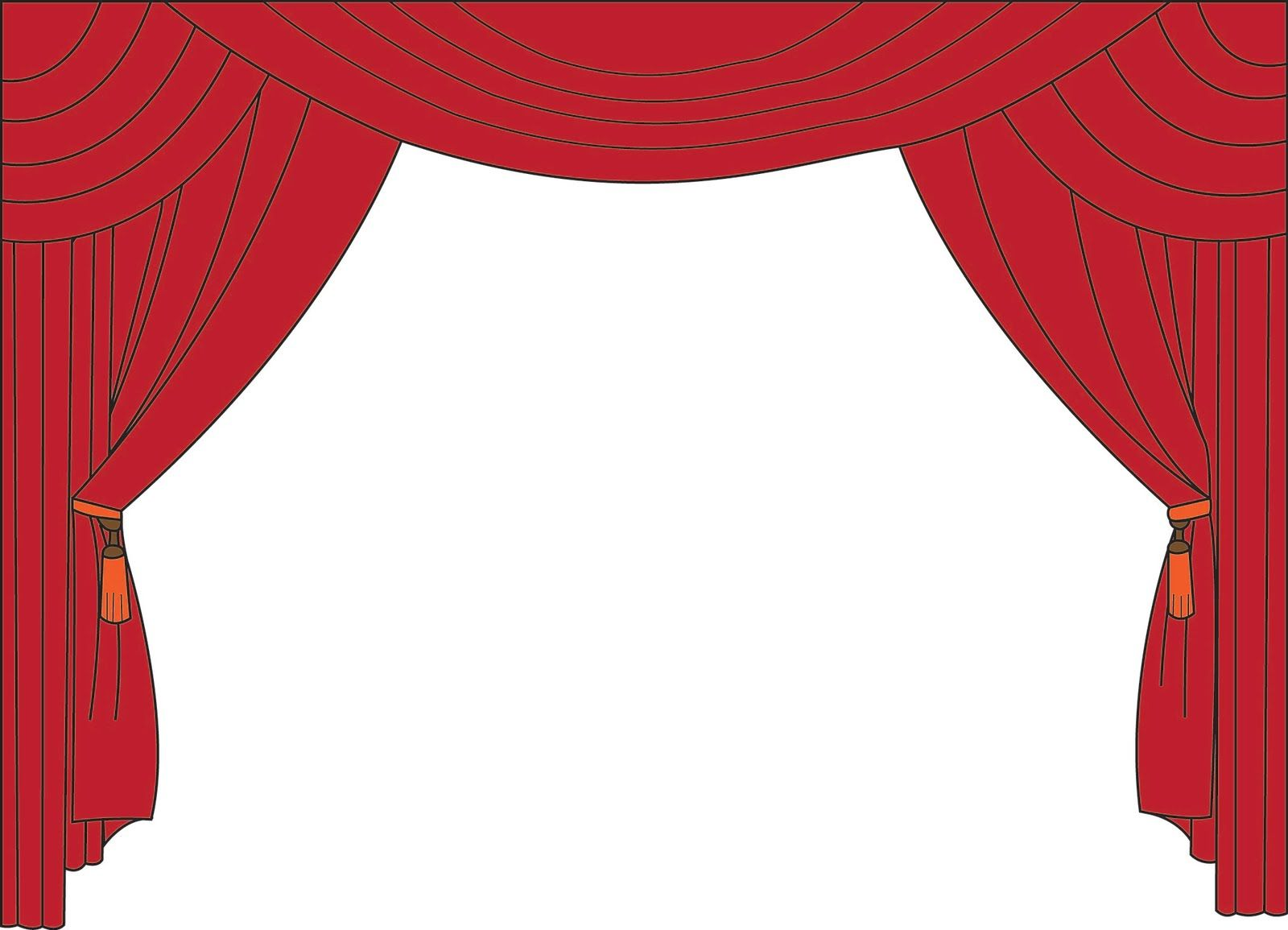 Page border spotlight free. Curtains clipart puppet theater