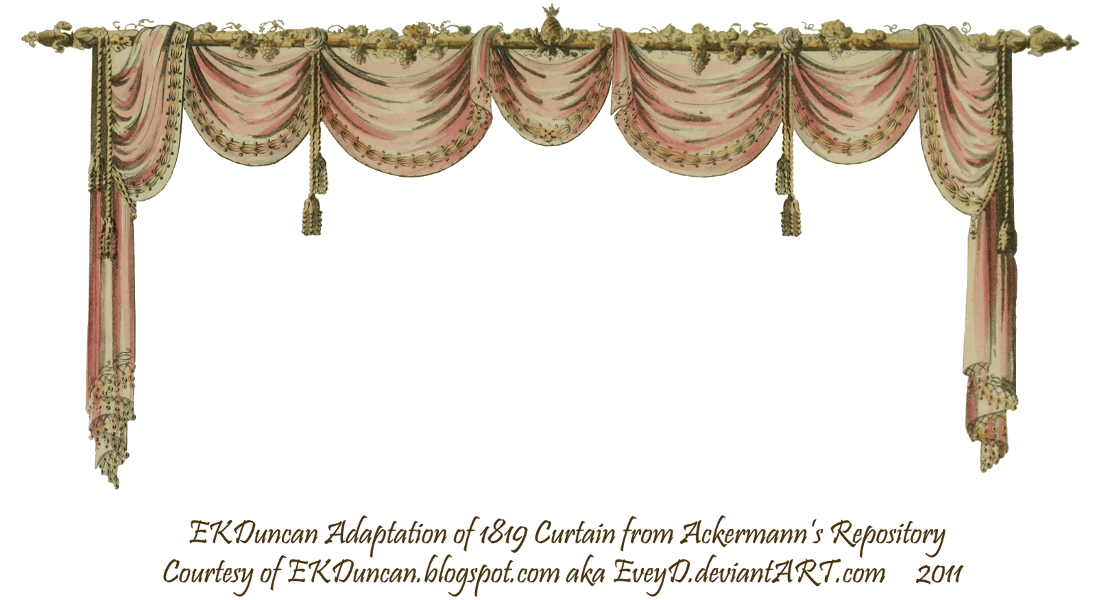 Ekduncan my fanciful muse. Curtains clipart pink curtain