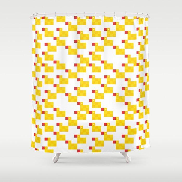 By rubber duck shower. Curtains clipart pixel art