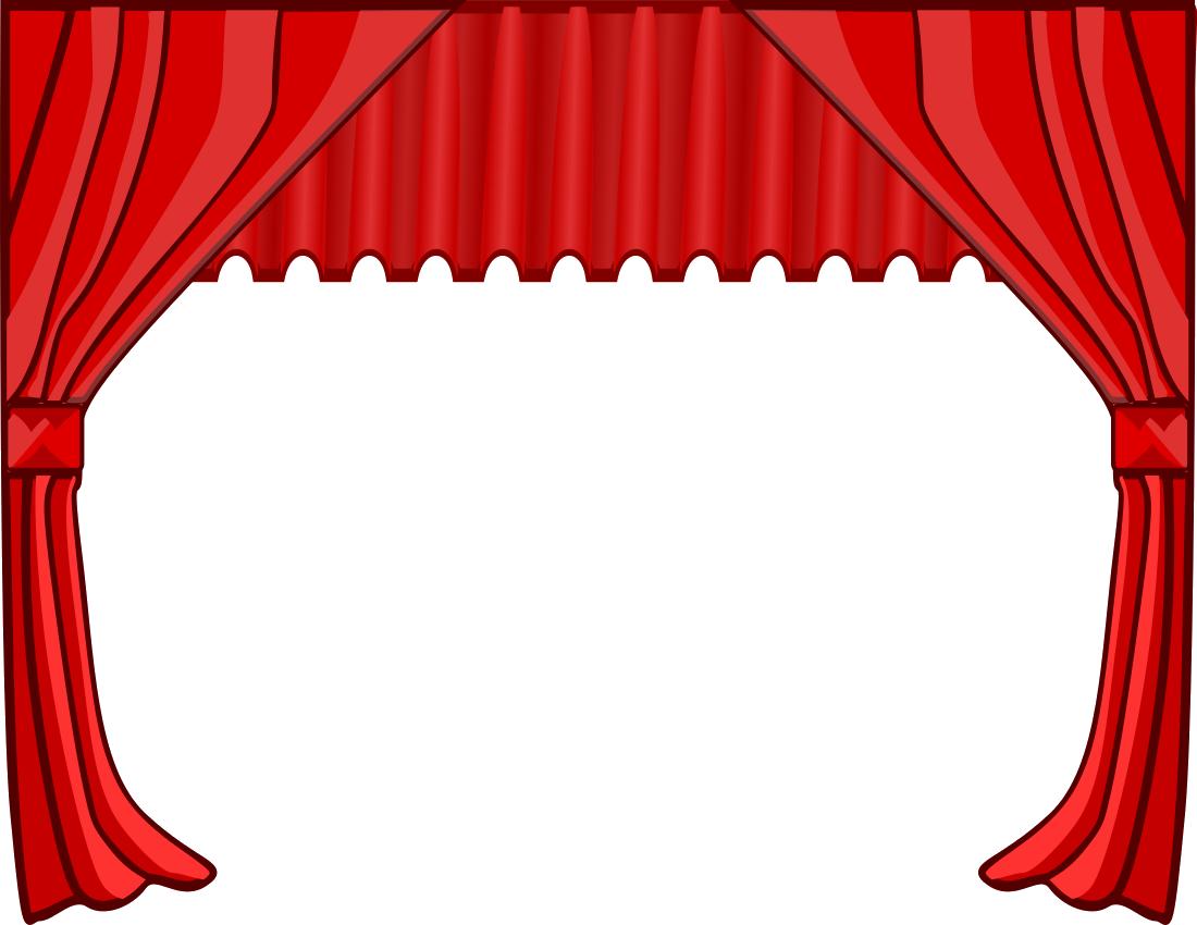 Curtain clipart press button. Curtains png