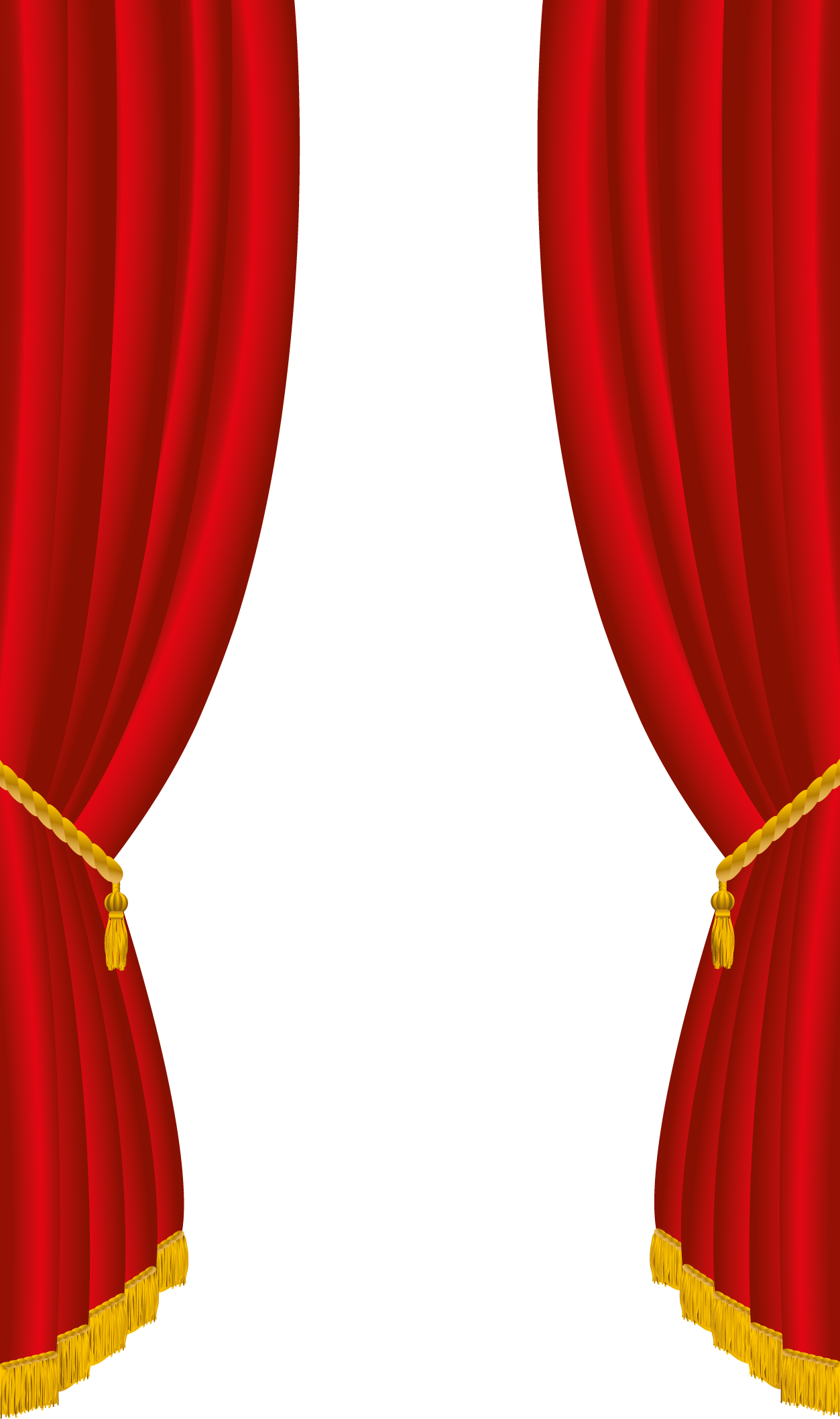Curtains clipart press button. Red png