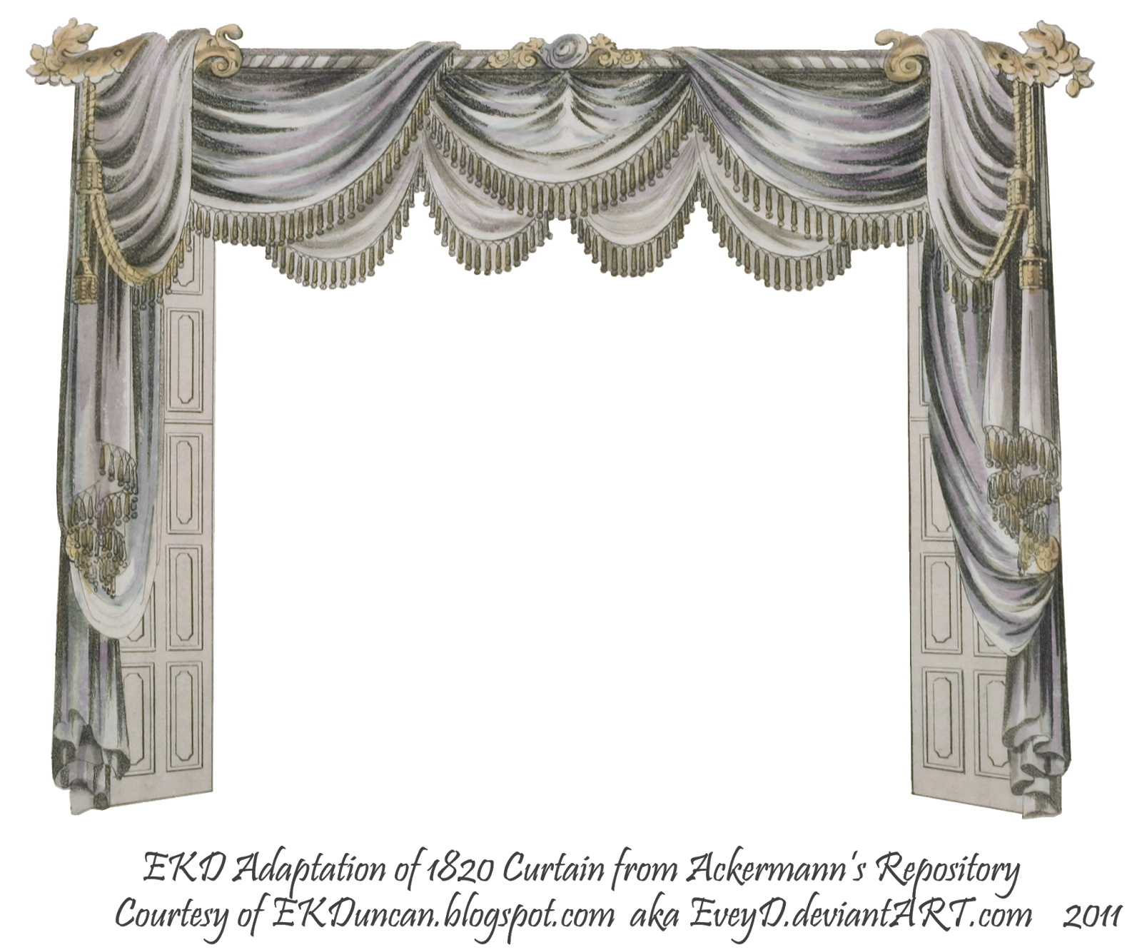 Ekduncan my fanciful muse. Curtains clipart press button