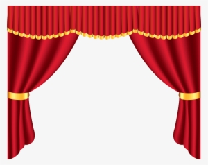 Stage curtains png transparent. Curtain clipart puppet theater