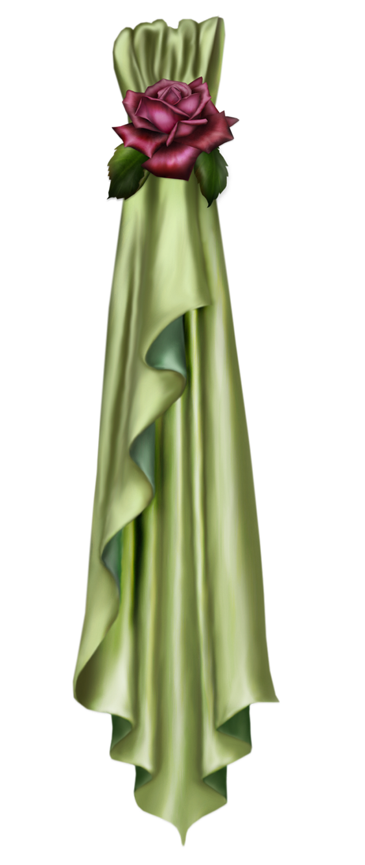 Dress clipart silk dress. Green curtain decor png