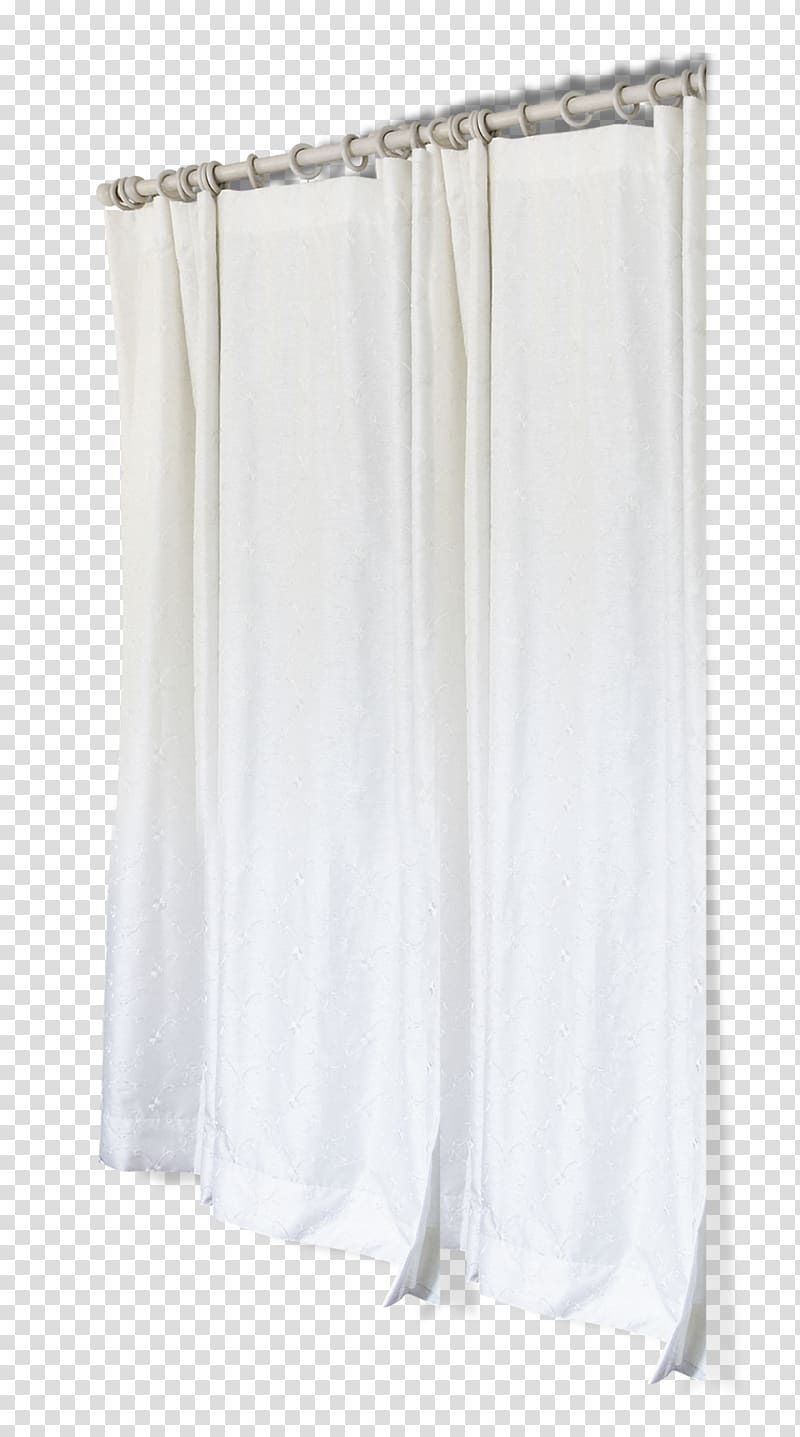 Closed white rod pocket. Curtains clipart side