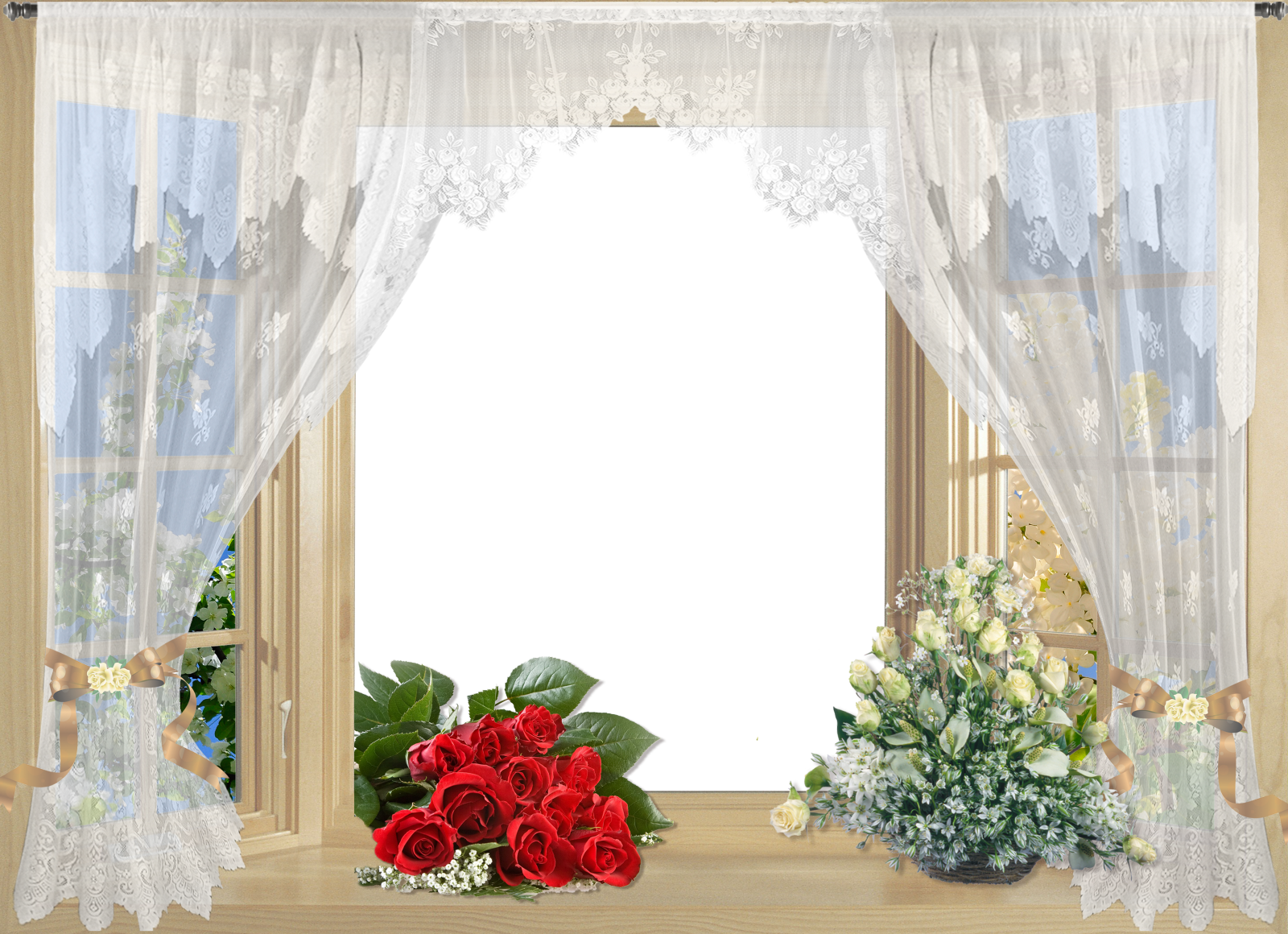 Curtains clipart flower. Window with stunning black