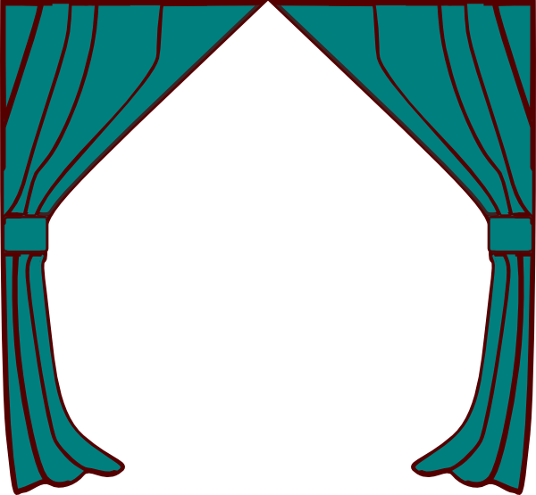 Clip art at clker. Curtains clipart cartoon