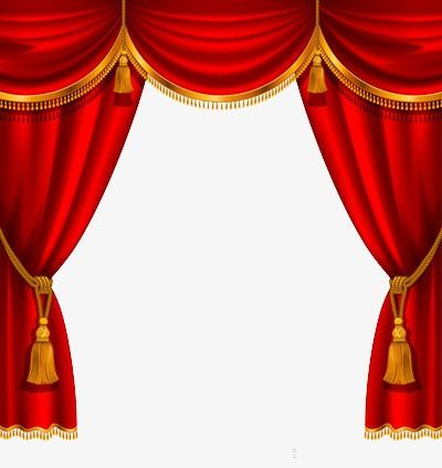 Curtain red png . Curtains clipart stage decoration