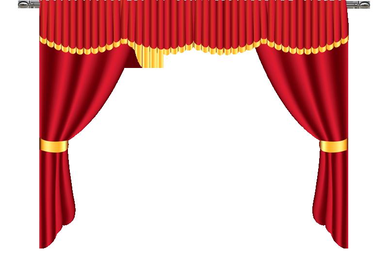 Curtains clipart stage decoration. Orange design and decor