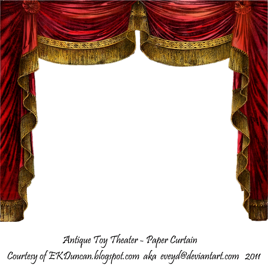 Paper curtain ruby by. Poetry clipart theater