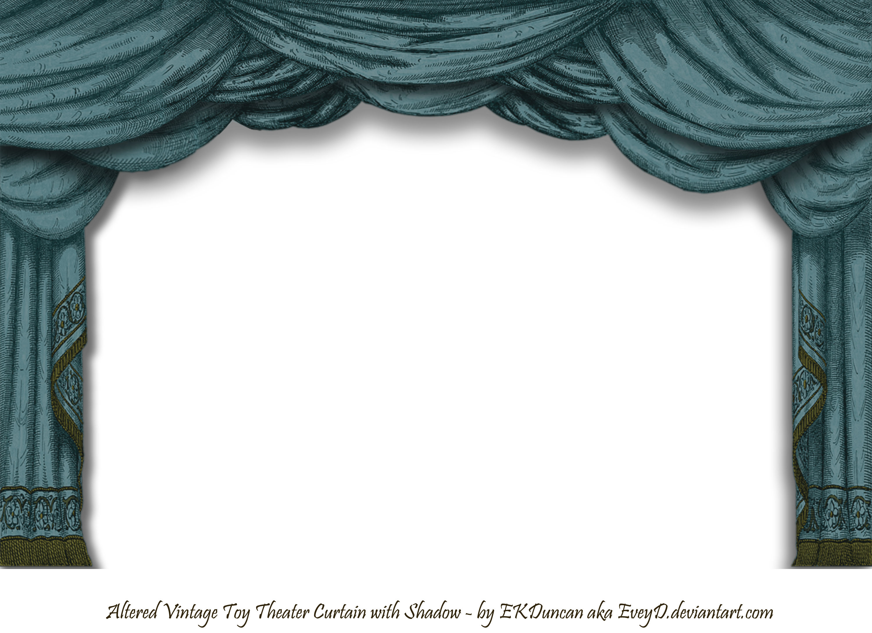 Curtains clipart pixel art. Dark teal paper theater
