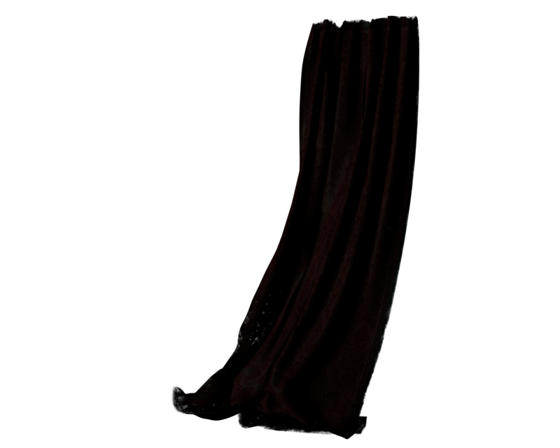 Transparent drapes by madetobeunique. Curtains clipart drapery