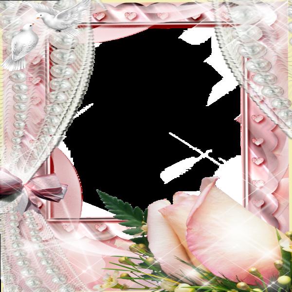 Curtain clipart vintage pink. Frame flowers rose n
