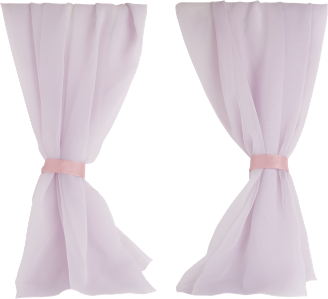 Forgetmenot curtains. Curtain clipart vintage pink