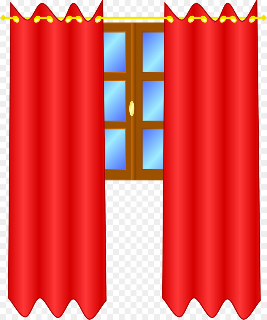Curtains clipart real. Window cartoon curtain red