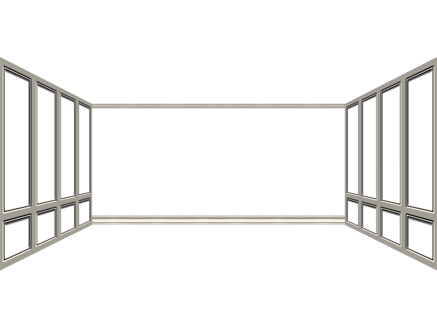 White clipart window frame. Room by mysticmorning on
