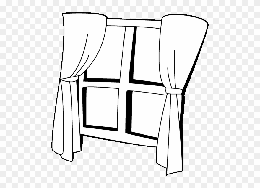 With png download . Curtains clipart window pane