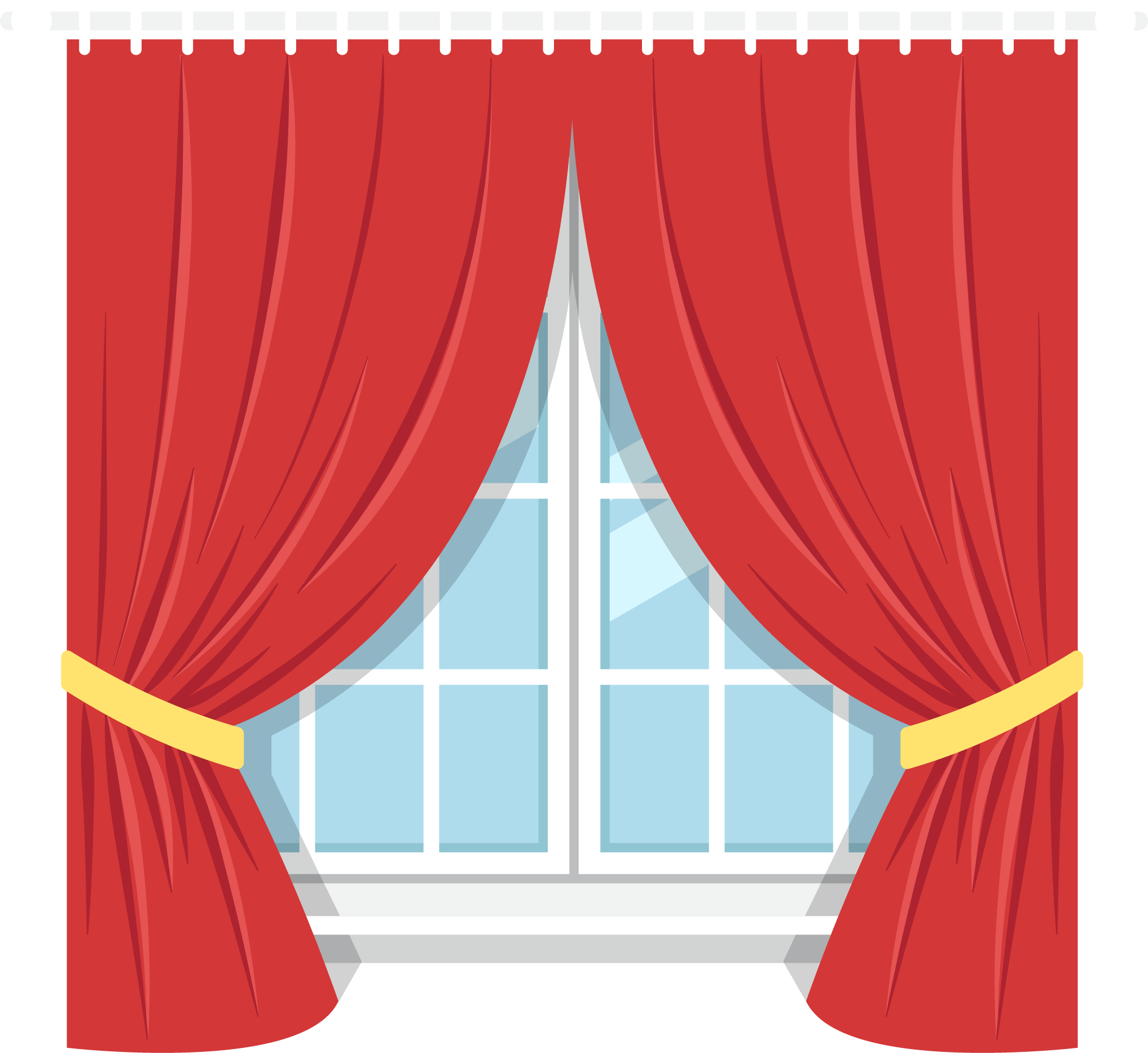 Curtains clipart, Curtains Transparent FREE for download ...