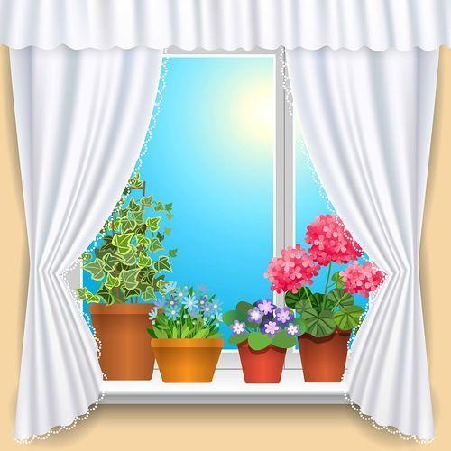 Pin by barbara bennett. Curtains clipart window sill