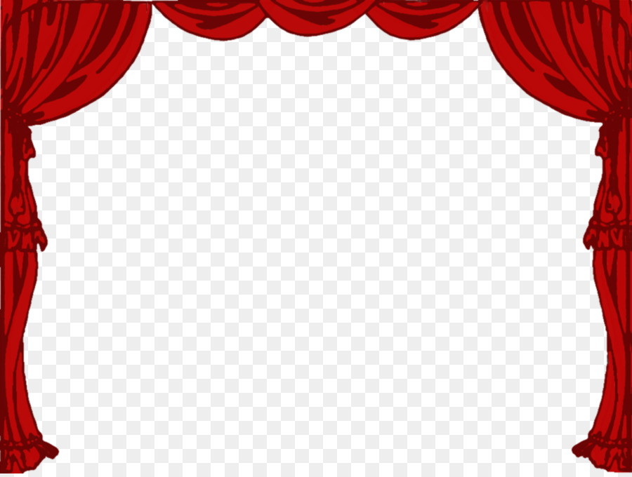 Curtains clipart. Light theater drapes and