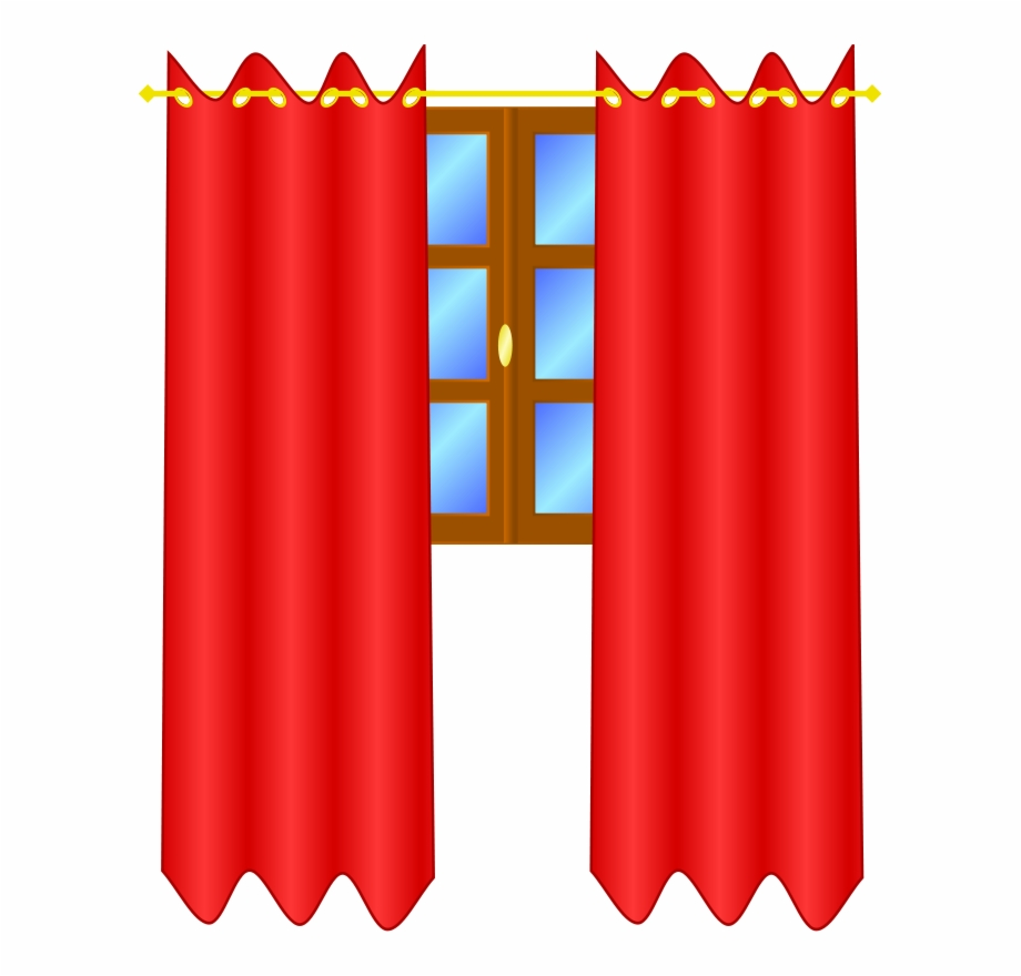 Clip art download free. Curtains clipart bedroom curtain
