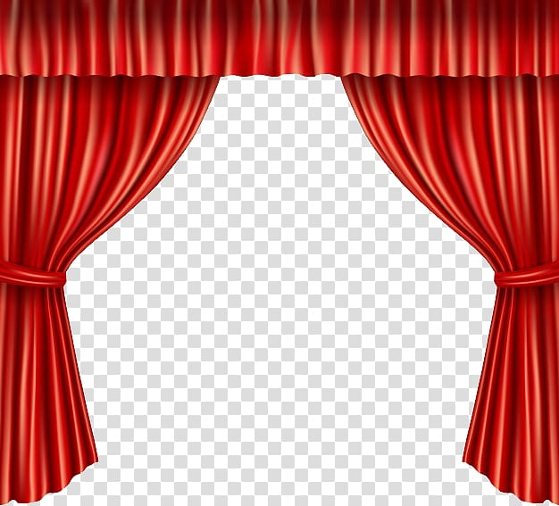 Red stage curtain art. Curtains clipart door