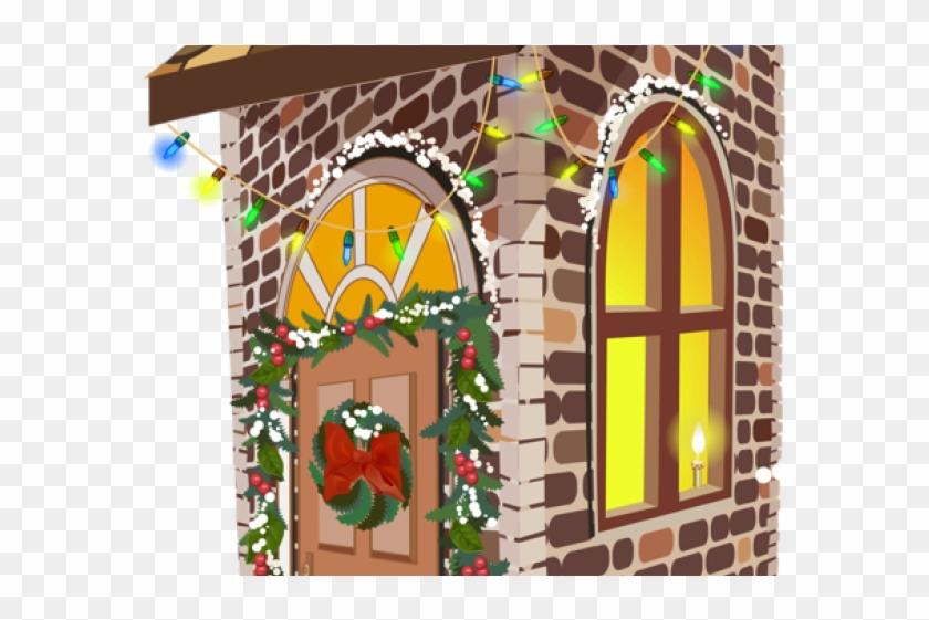 Windows house noel maisons. Gingerbread clipart window