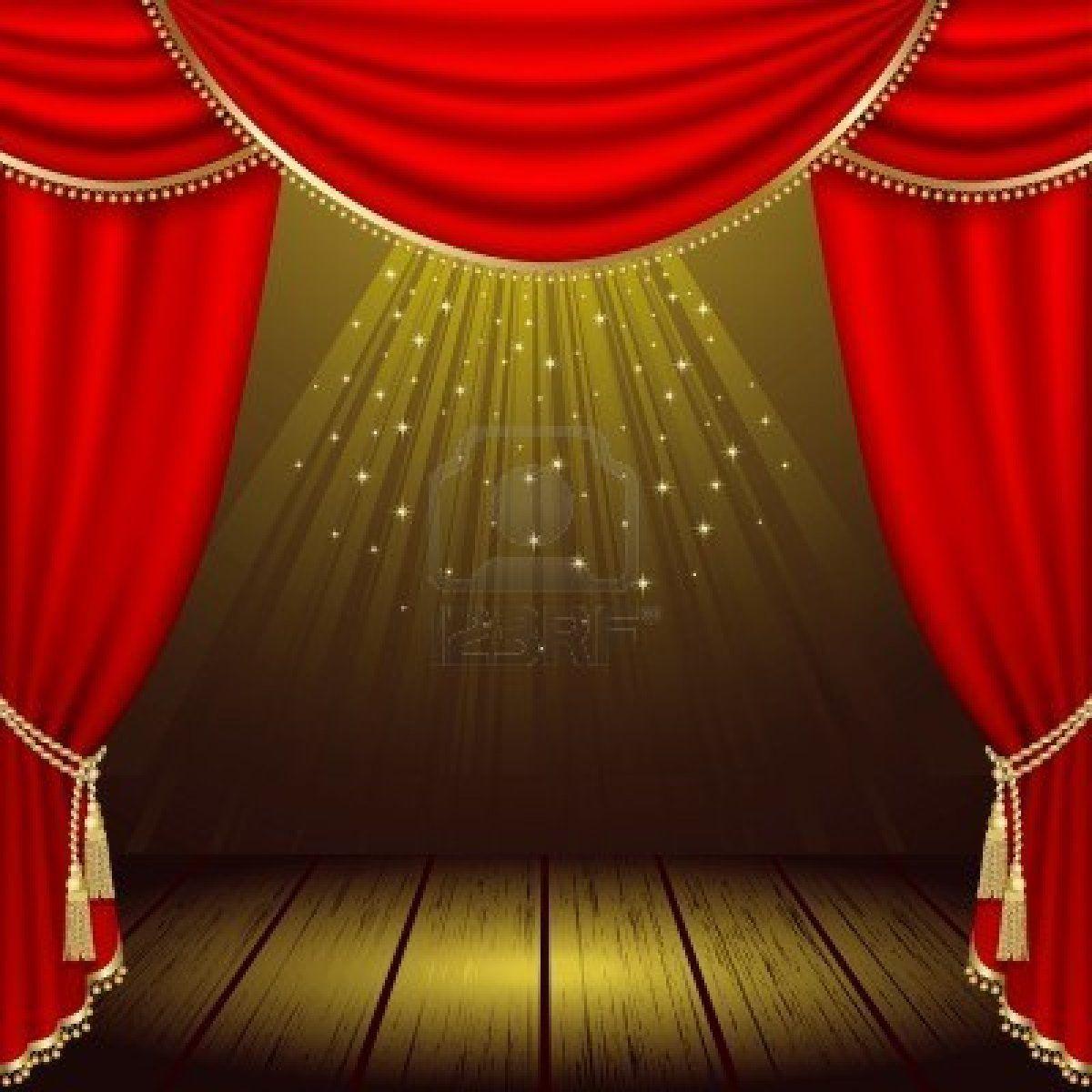 Background card clip art. Theatre clipart opera stage