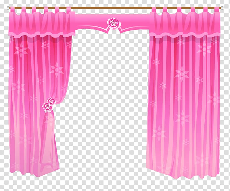 Curtains clipart pink curtain. Window blind door