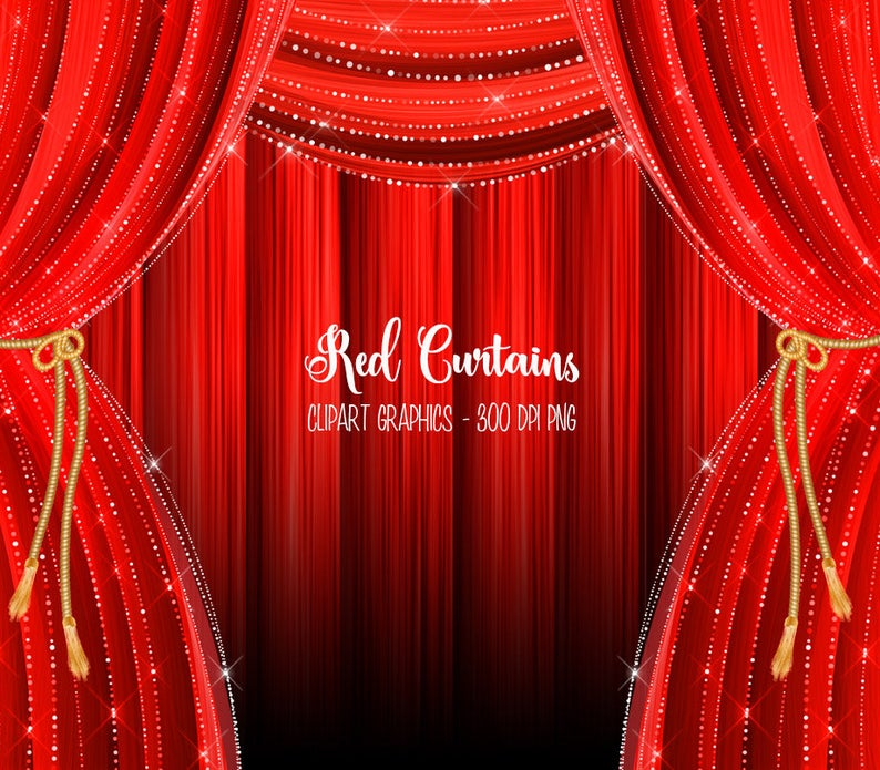 Curtains clipart wedding curtain. Red backdrop clip art