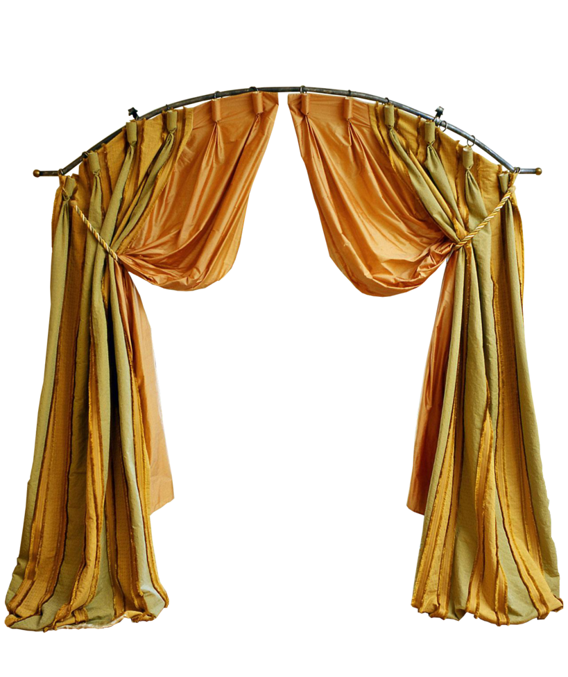 Curtains yellow curtain
