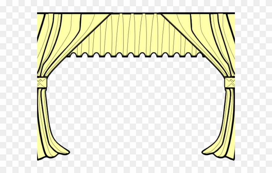 Drama png download . Curtains clipart yellow curtain