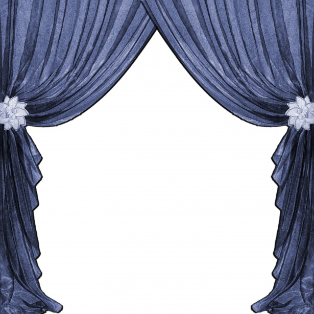 Drapes blue free stock. Curtains clipart