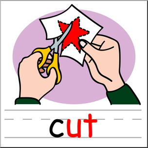 Cut clipart. Clip art basic words