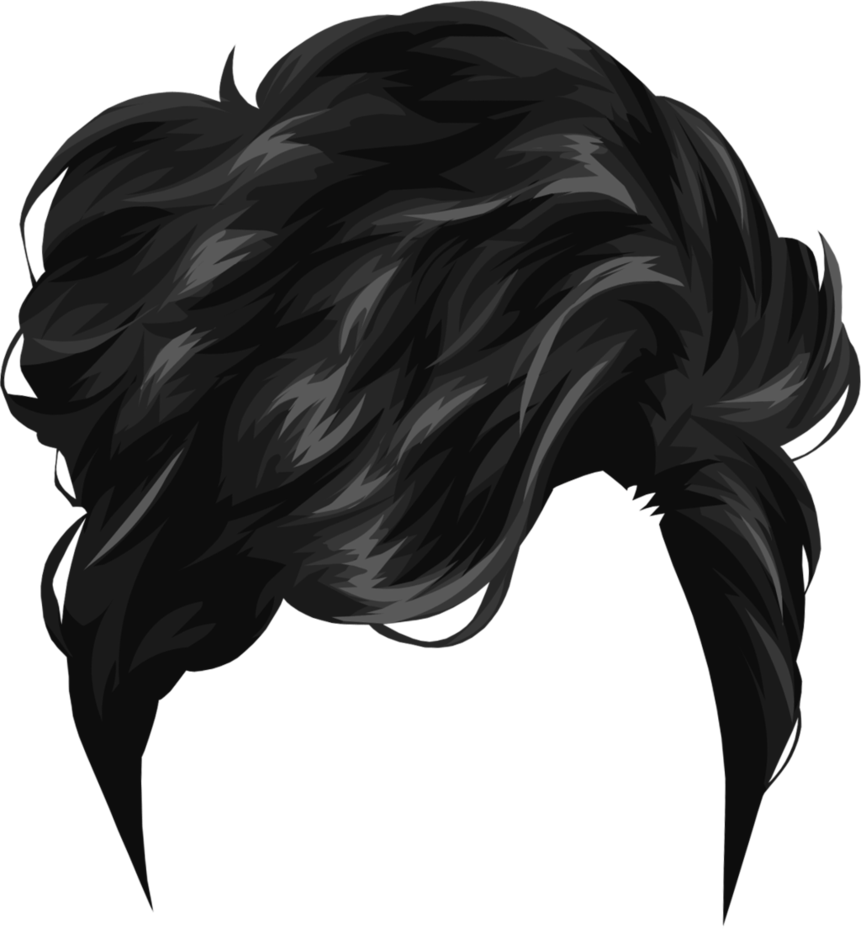 Hair thirty five isolated. Elvis clipart pompadour